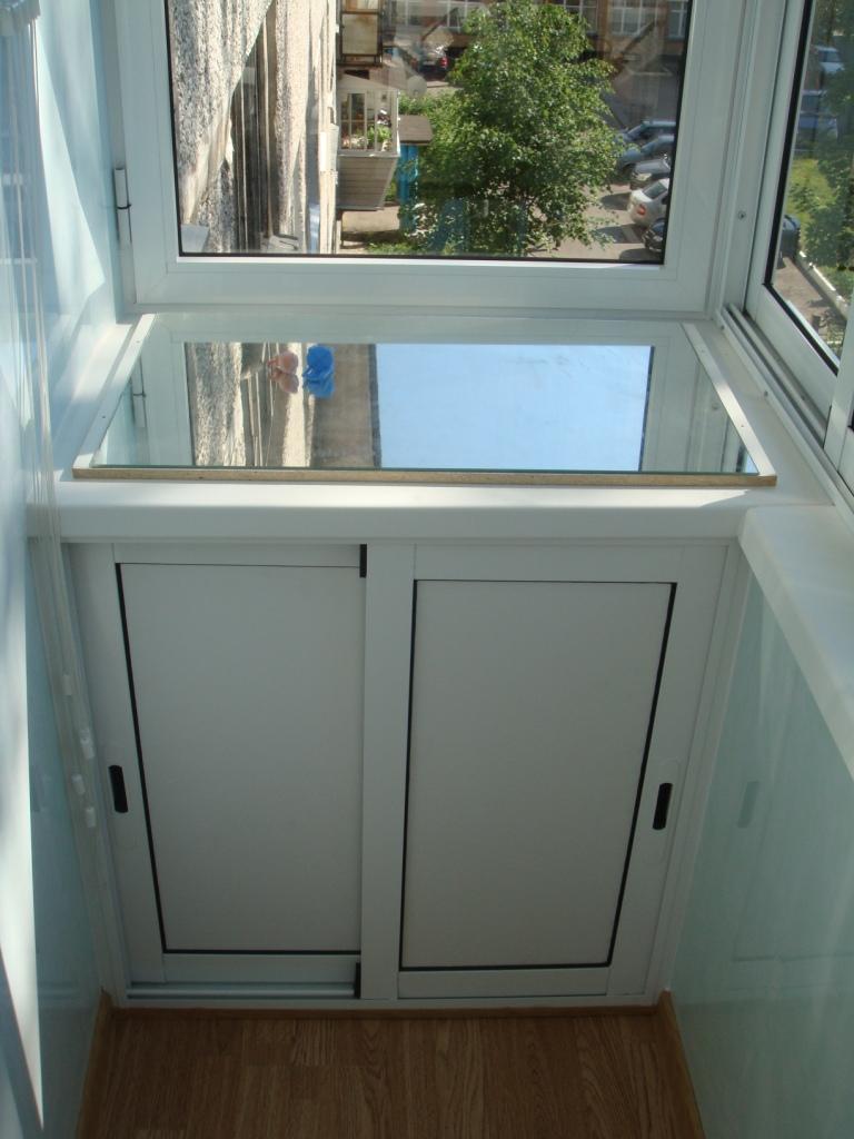 Шкаф на балконе.